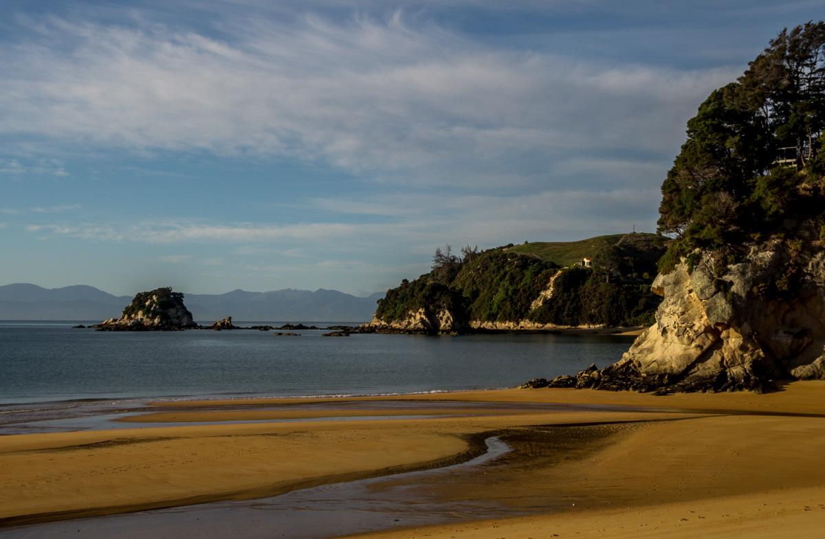 La playa de Kaiteriteri, entrada a Abel Tasman