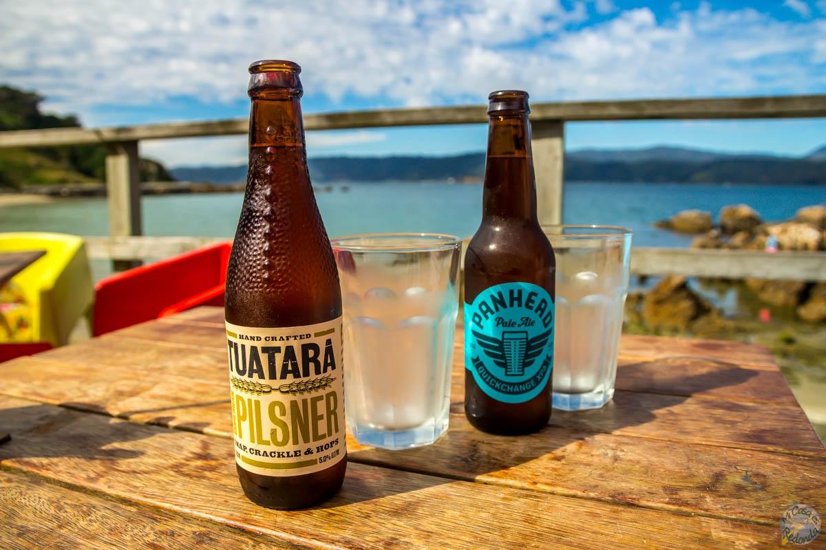 Cervecitas en Scorching Bay, Wellington