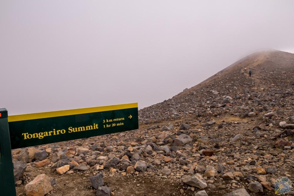 Subimos hasta la cima del Tongariro?