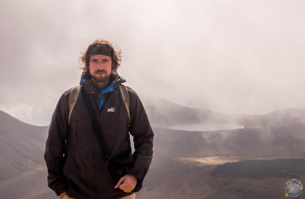 Yo con niebla (no, el perro no), Tongariro