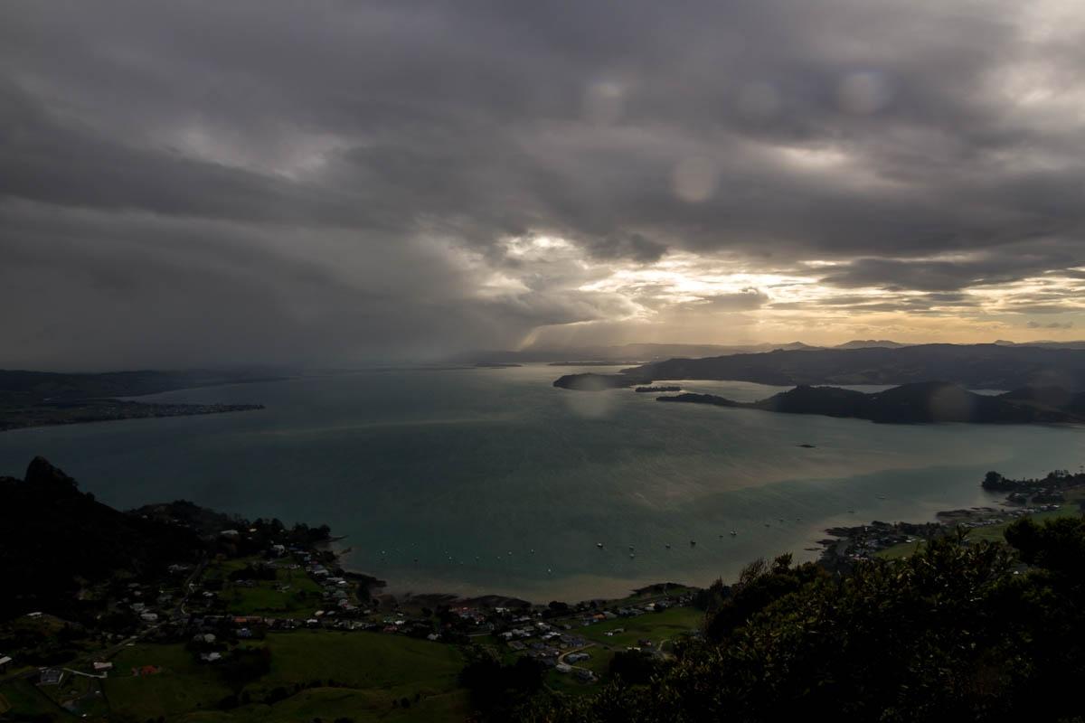 Vistas desde el monte Manaia, Whangarei, Northland
