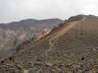 La subida a la cima del Tongariro se despejó a la vuelta, al fondo se puede ver