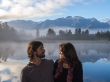 La niebla aún se hacía notar. Mirror Lake, Westland