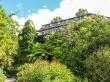 La princpal construcción del Jardin Botánico de Wellington