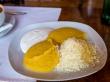 Polenta con queso y crema agria