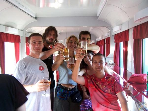 La vida en el vagón-restaurante