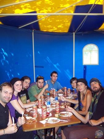 Comiendo en Irkutsk