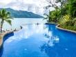 Piscina de resort con vistas, Mahe, Seychelles