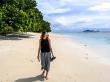 Caminando por playas de Seychelles