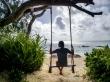 Esperando al atardecer, Praslin, Seychelles