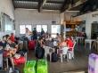 Sala de espera de los ferrys entre islas de Seychelles
