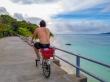 Recorriendo La Digue en nuestra bici, Seychelles