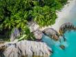 Fotos aéreas en Anse Source D'argent, La Digue