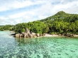 Formaciones graníticas en Mahe, Seychelles