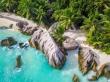 Contraste de colores en Anse Source D'argent, La Digue, Seychelles
