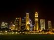 Skyline de Singapur de noche