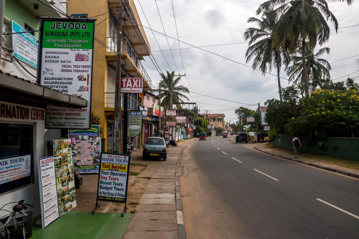 Calle principal de Negombo