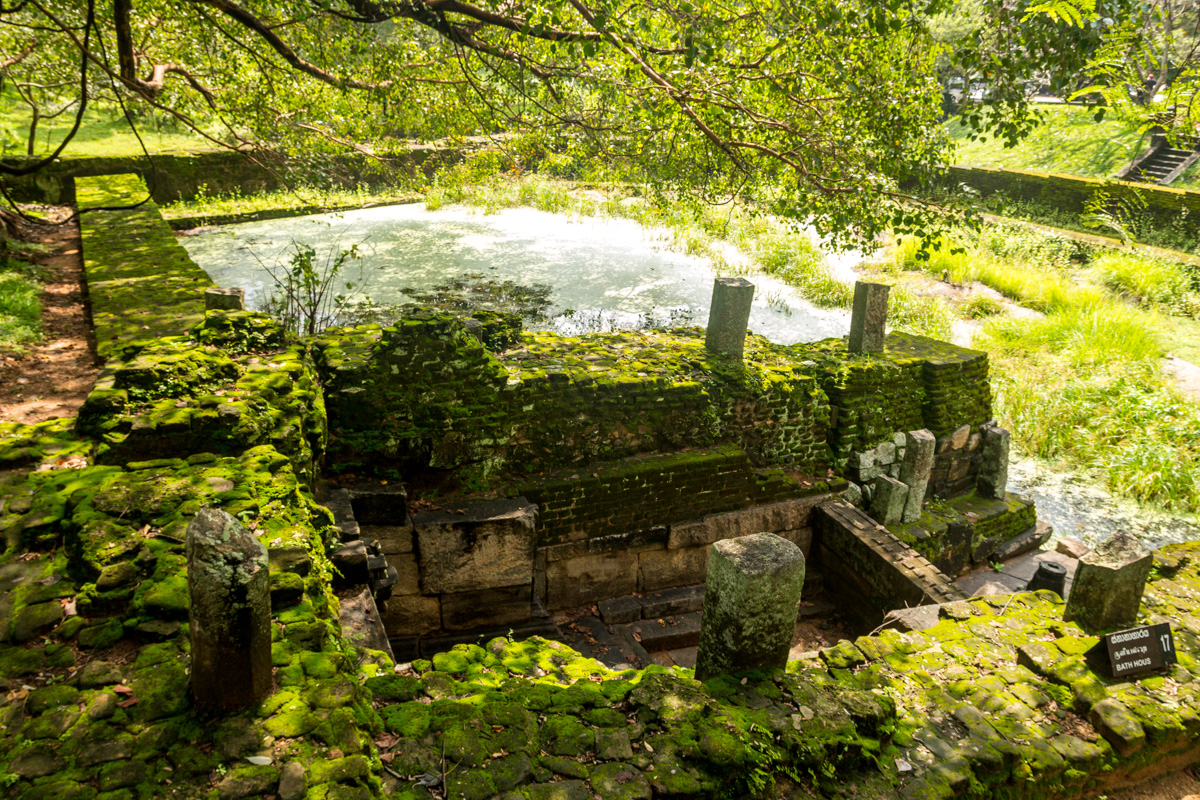 Antiguos baños, Polonnaruwa