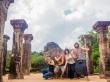 Con Vero y Ola en Polonnaruwa