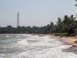 La playa de Tangalle estaba un poco agitada