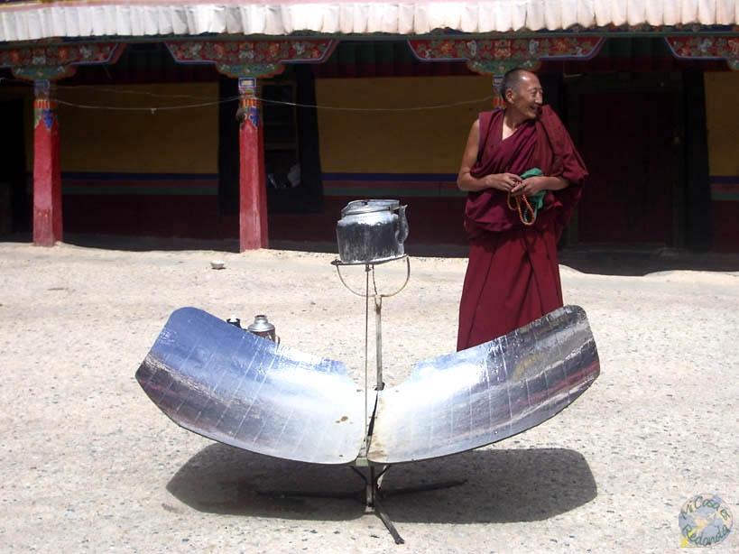Calentador solar, para el té