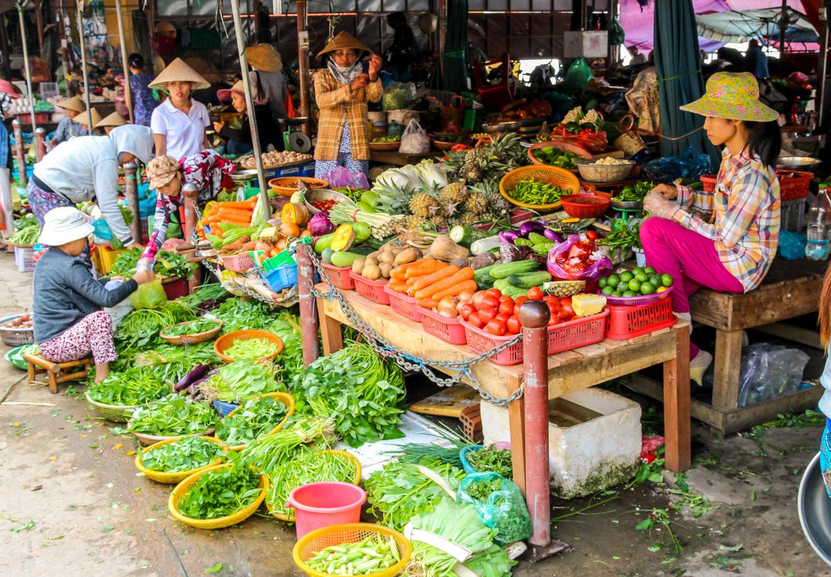 Hay fruta y verdura
