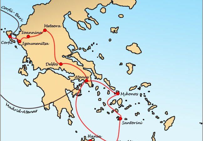 Mapa Ruta Grecia