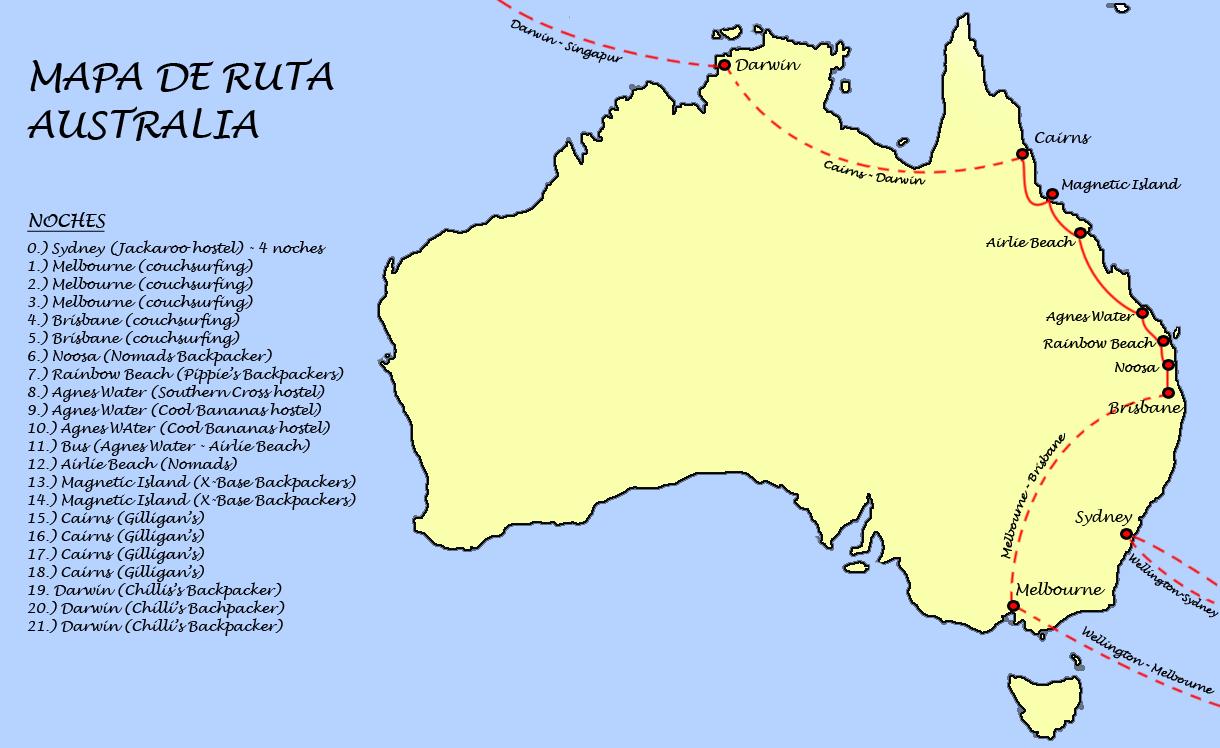 mapa ruta australia