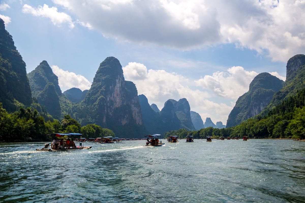Guilin, Yangshuo, Río Li