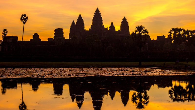 Amanecer en Angkor Wat